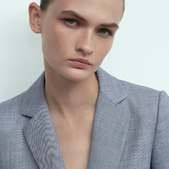 Zara Heathered Suit Jacket